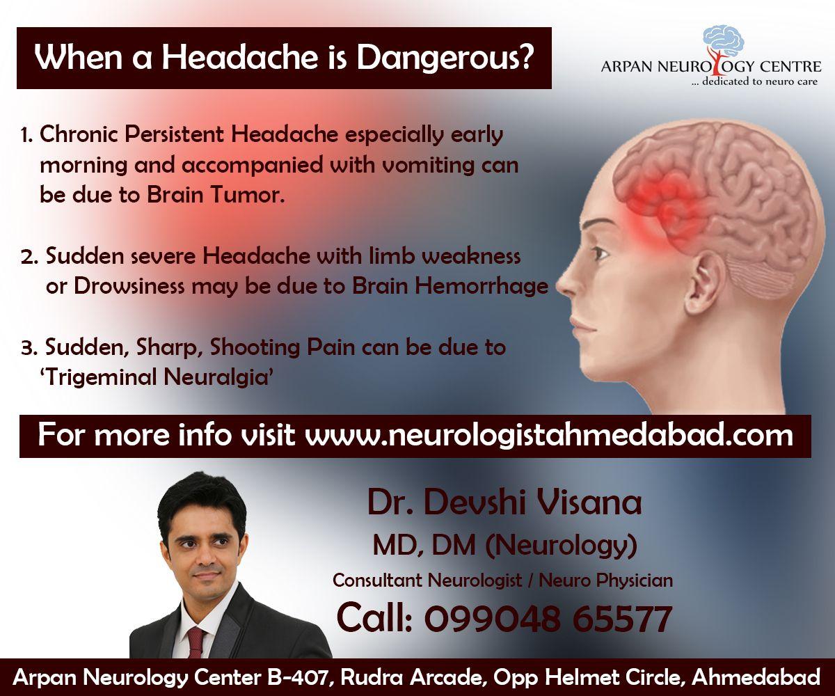 When A Headache Is Dangerous Migraine Doctor Brain Hemorrhage Persistent Headache