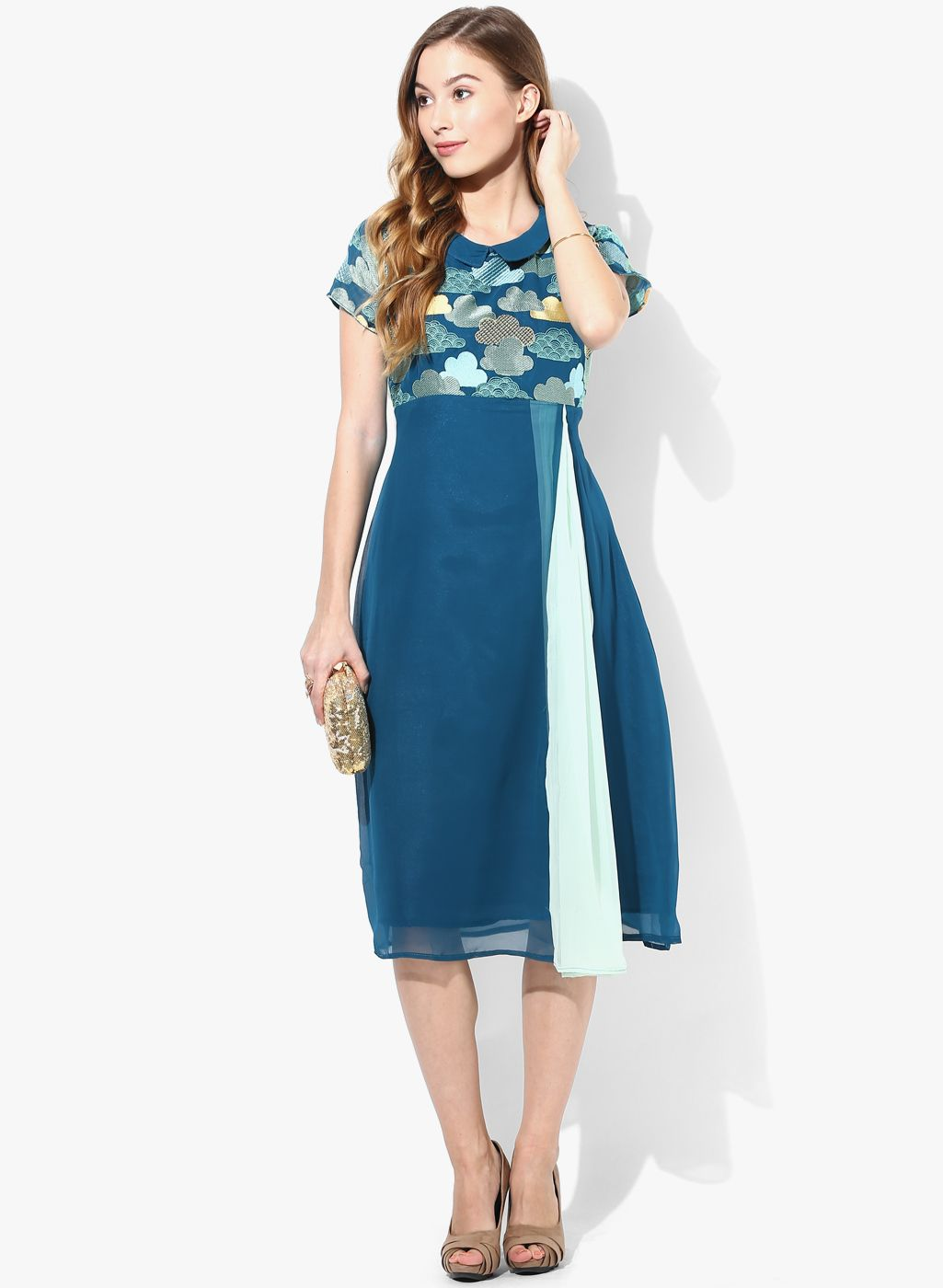Buy this gorgeous Blue Colored Printed Kurti by Eternal @ Looksgud ...