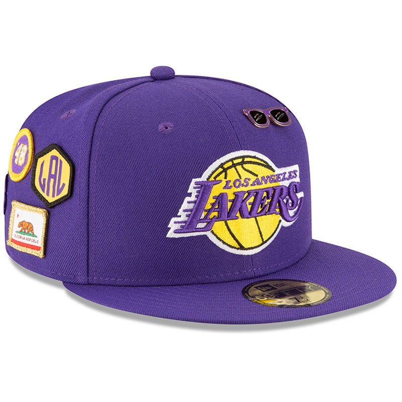 Los Angeles Lakers New Era 2018 Draft 59fifty Fitted Hat Purple In 2021 Fitted Hats Los Angeles Lakers New Era