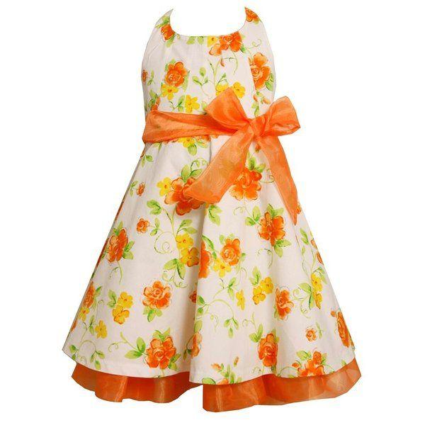 Flouncy and Fun Easter Dresses: Sleeveless Dotted Shantung Dress ...