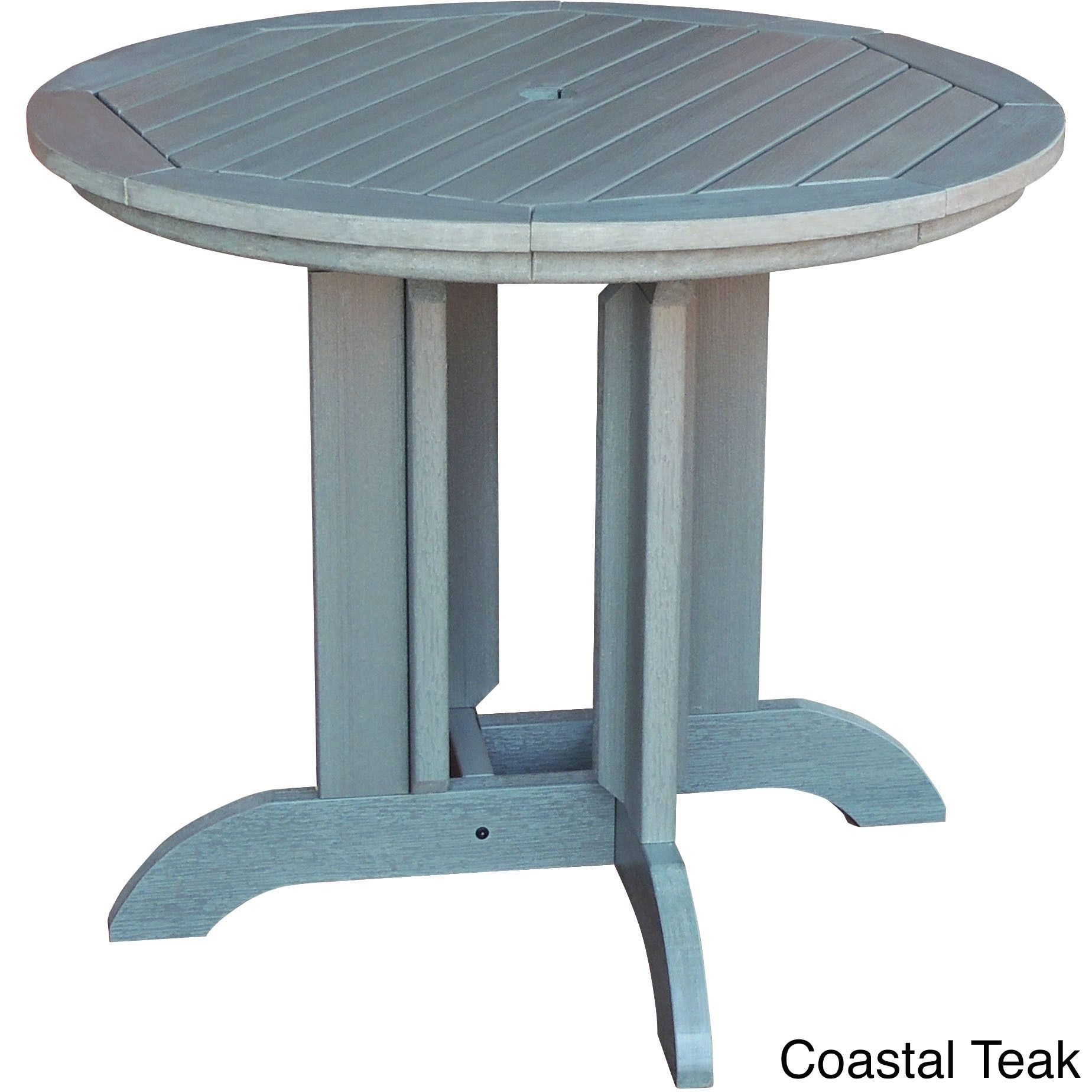 highwood eco friendly synthetic wood 48 inch round dining table rh pinterest ca