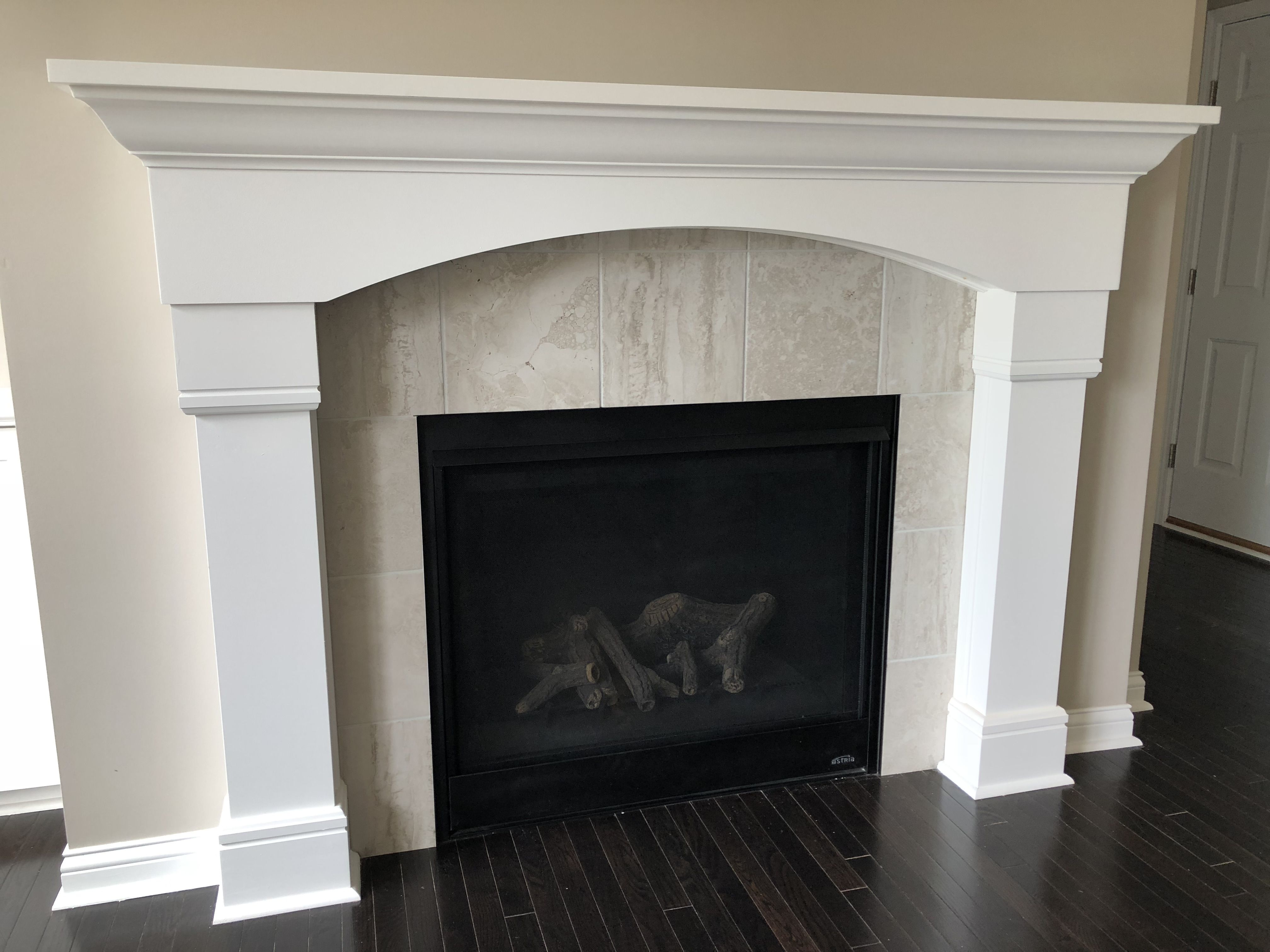 Mantle 2 Exquisite 12x12 Ivory Tile Fireplace Surround Fireplace Tile Surround Fireplace Tile Fireplace Surrounds
