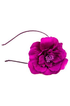 Threes Company - Rosette Headband In Pink.