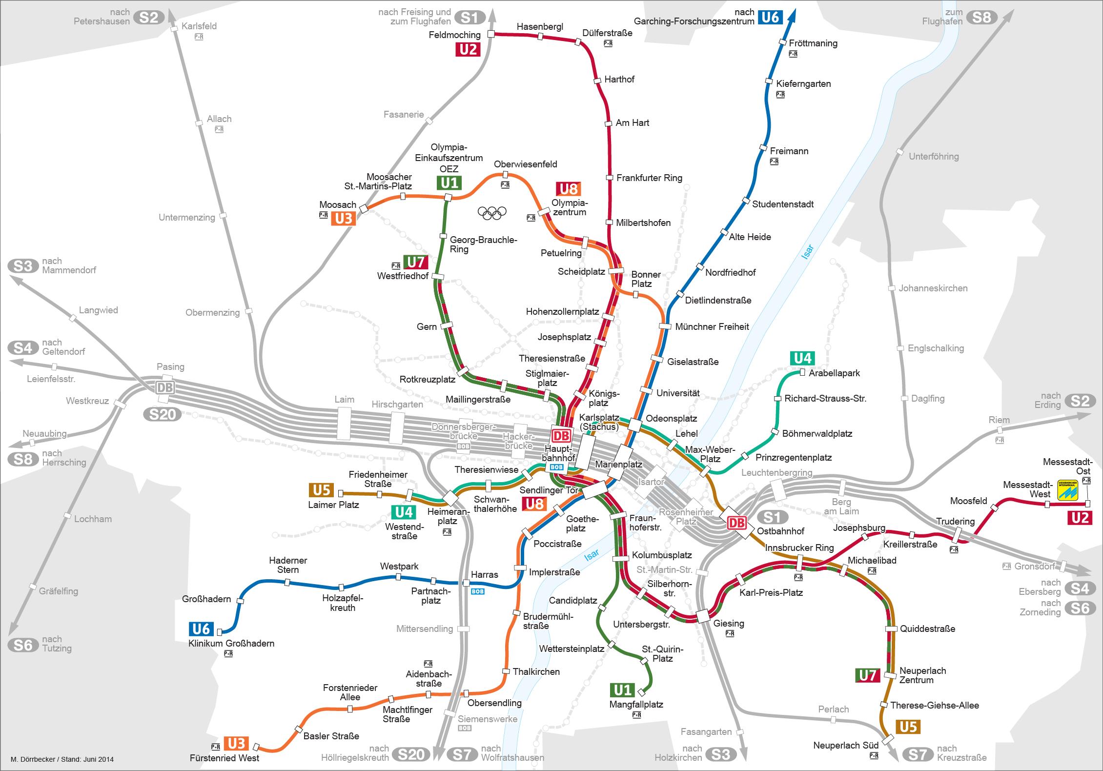 Munich Germany Subway Map
