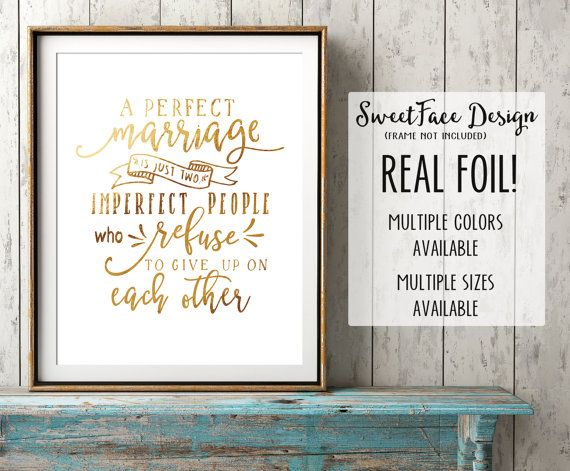 REAL GOLD FOIL a perfect marriage is just two by SweetFaceDesign
