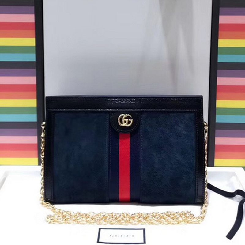 ecbc134ab0764b Gucci Ophidia Small Shoulder Bag 503877 Blue Suede | Gucci in 2019 ...