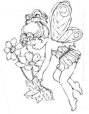 hada con flores | Dibujos | Pinterest | Hada, Flores y Colorear