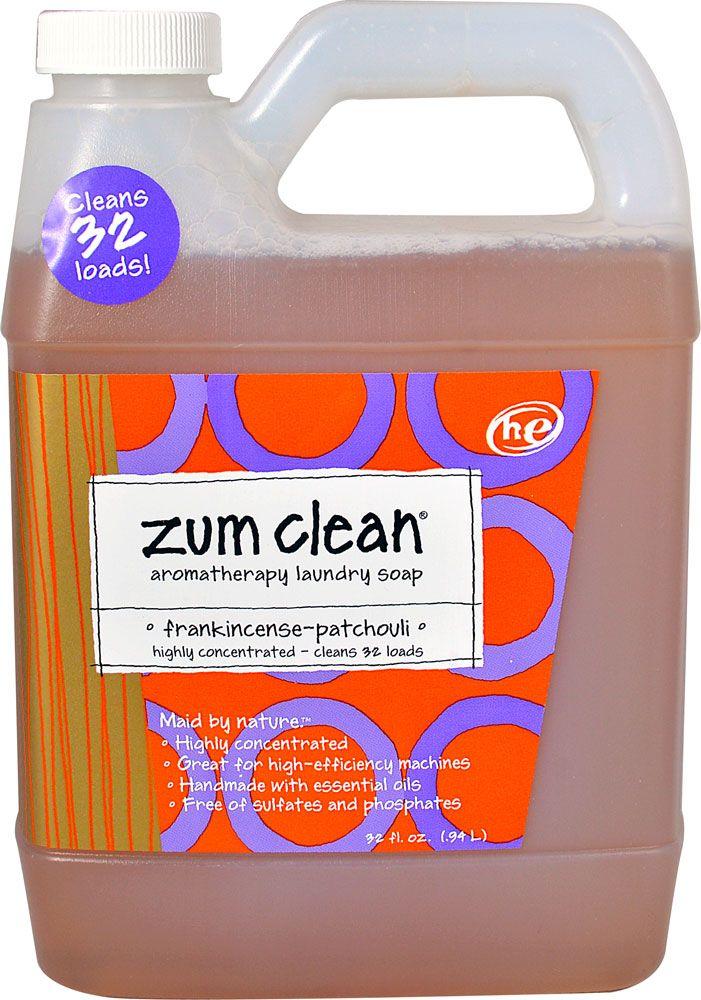Zum Clean Aromatherapy Laundry Soap Frankincense Patchouli 32