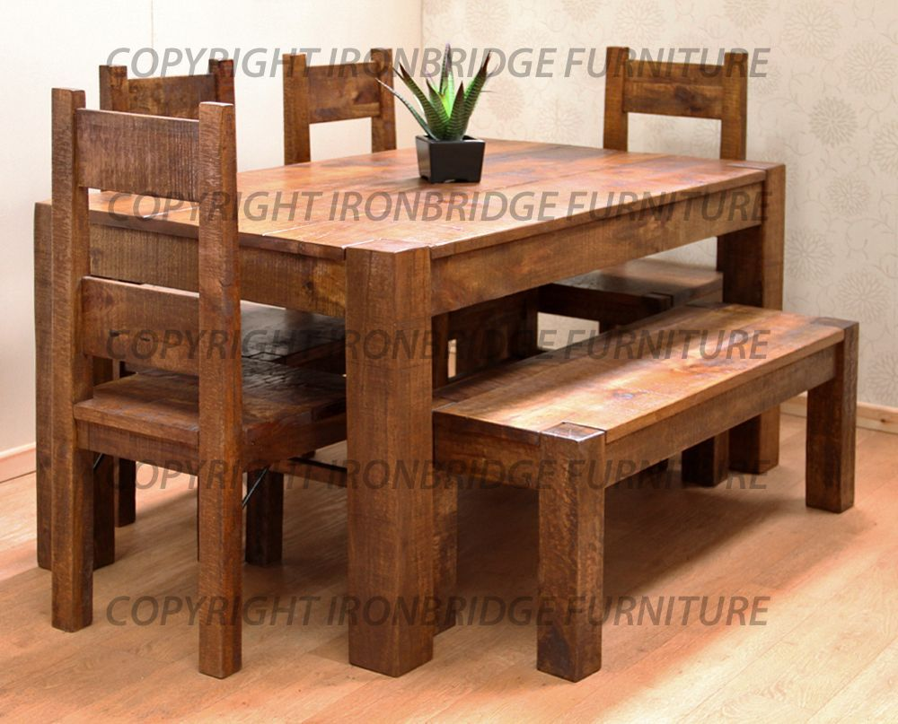 Rustic Farmhouse Dining Room Table Sets: Rustic Farmhouse Dining Table