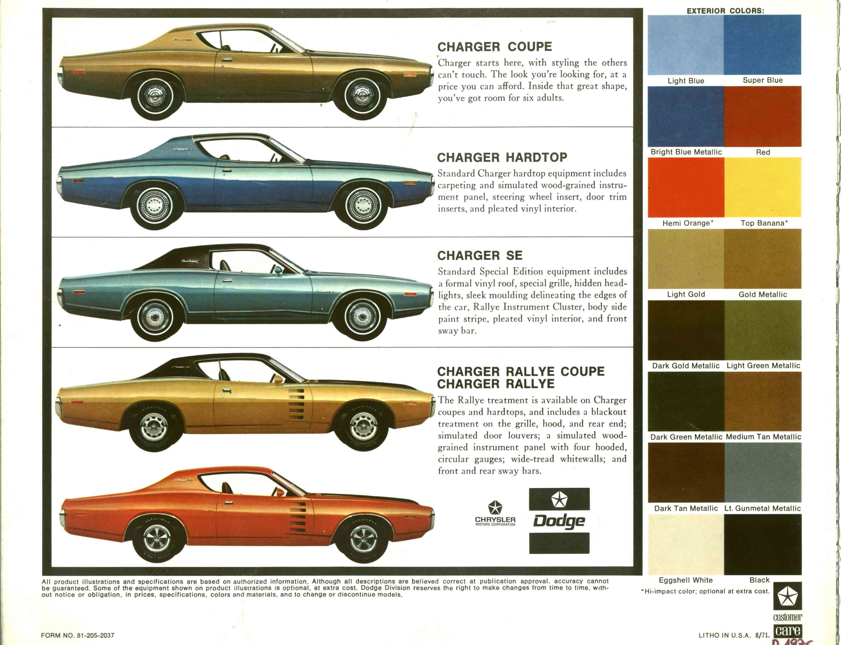 Car Brochures 1972 Charger Brochure 72charger04 Jpg Dodge Charger Classic Cars Dodge