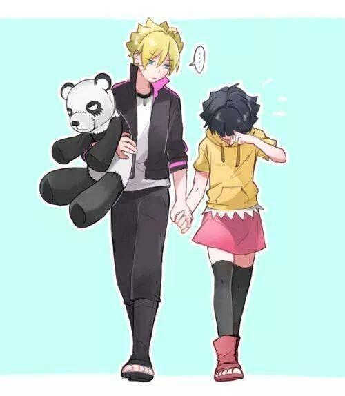 Sasusaku Modern Au: Uzumaki Siblings Bolt And Himawari