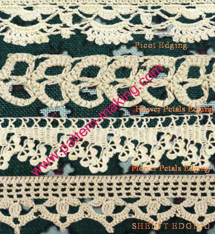 Crochet Edgings Wwwpattern Makingcom1 Knit And Crochet Pinterest