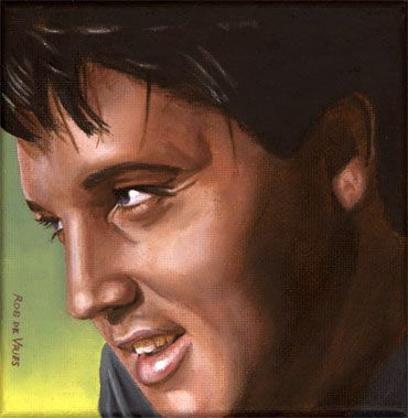 Elvis 24 1966 Series Of 25 Small Paintings From 1954