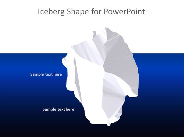 free iceberg powerpoint template free powerpoint templates