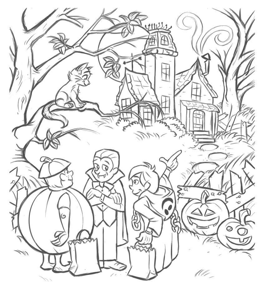 Coloriage de Halloween à imprimer gratuitement Coloriage