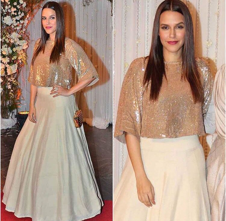 b11e7056bb2f0b Manish Malhotra   Neha Dhupia   subtle bling   Indian fashion ...