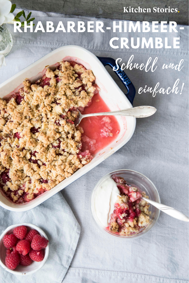 Rhabarber-Himbeer-Crumble | Rezept | Kitchen Stories