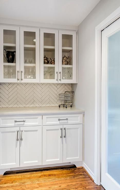 Best Chic Butler S Pantry Features Glass Front Upper Cabinets 400 x 300
