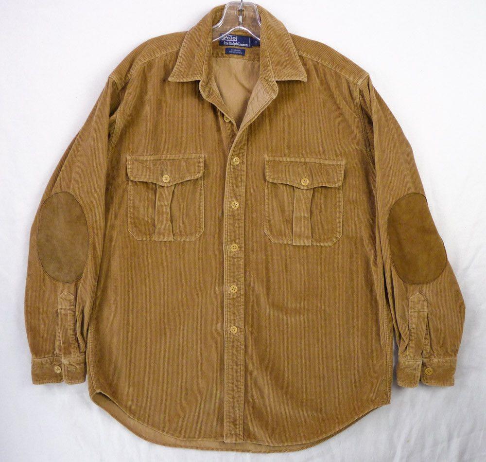 Polo Ralph Lauren Sierra Corduroy Shirt Jacket Mens M Wide