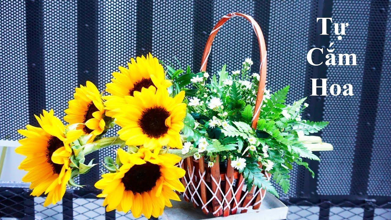 Cắm hoa nghệ thuật 168|Cắm Giỏ Hoa Hướng Dương tặng 8 ...