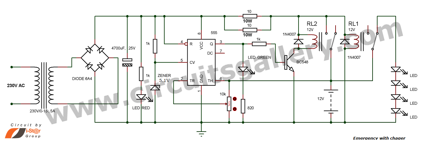 Automatic Emergency Circuit With Charger Electr 243 Nica