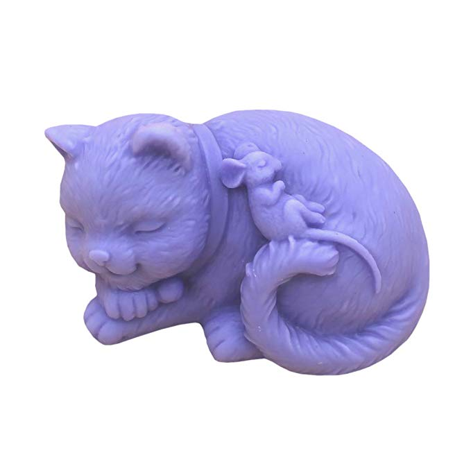 GRAINRAIN Silicone Soaps Mold Cats and Mouse
