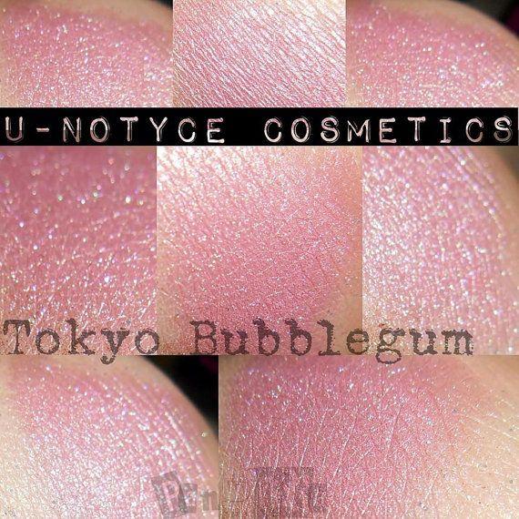 Duochrome Eyeshadow: Tokyo Bubblegum van Notycebeauty op Etsy