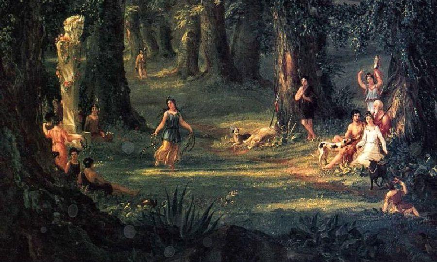 Thomas Cole Dream Of Arcadia Detail 1838 Oil On Canvas Landscape Artist Hudson River School Landscape Paintings