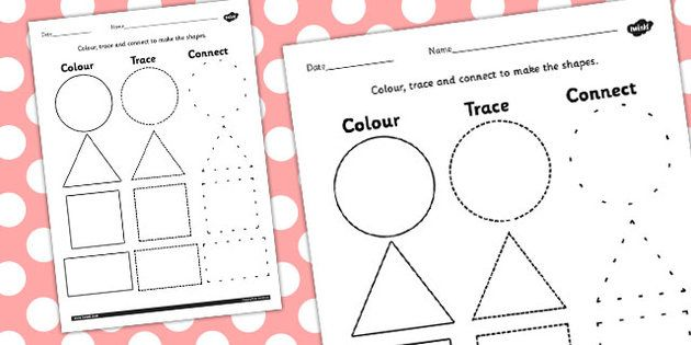new 2d shape colour trace and join the dots - Shape Pictures To Colour