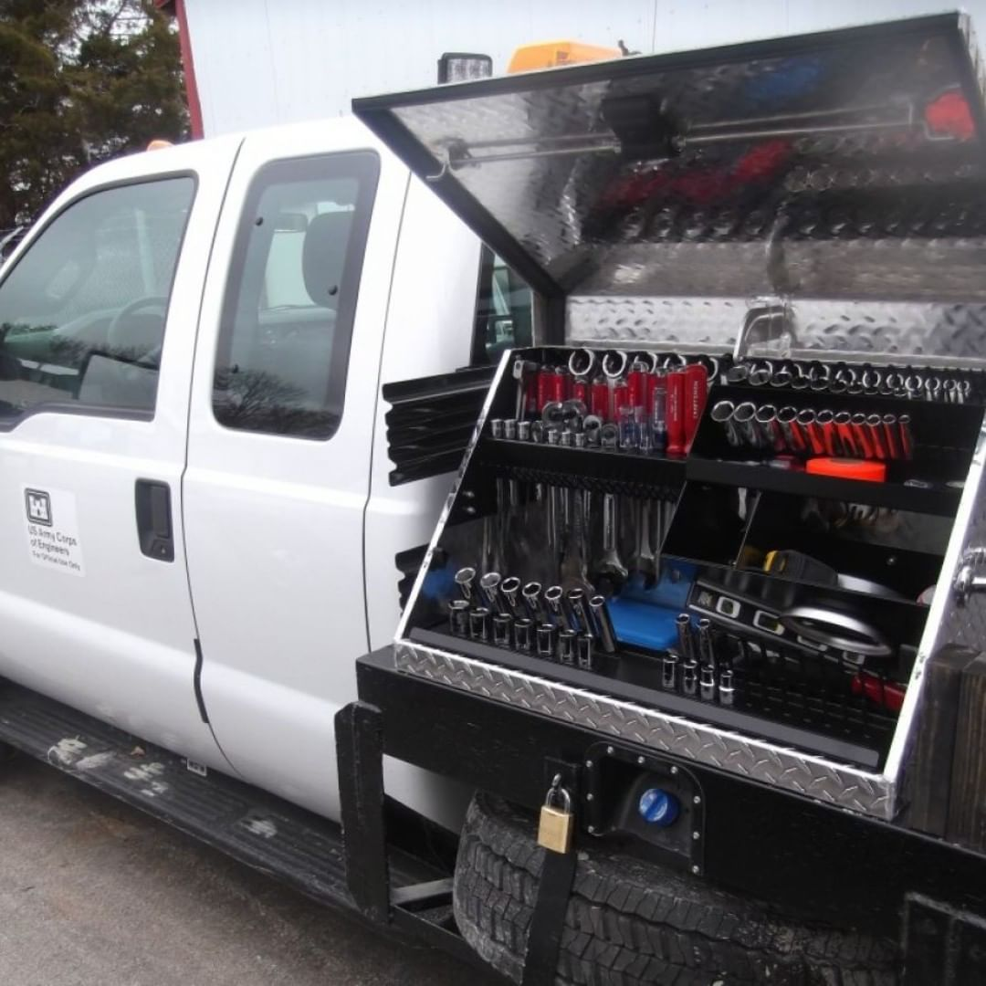 Excellent Tool Box A Large Tool Box With Room For All Of Your Tools Well Built And Well Organized Truck Toolbox Organization Tool Box Tool Box Organization