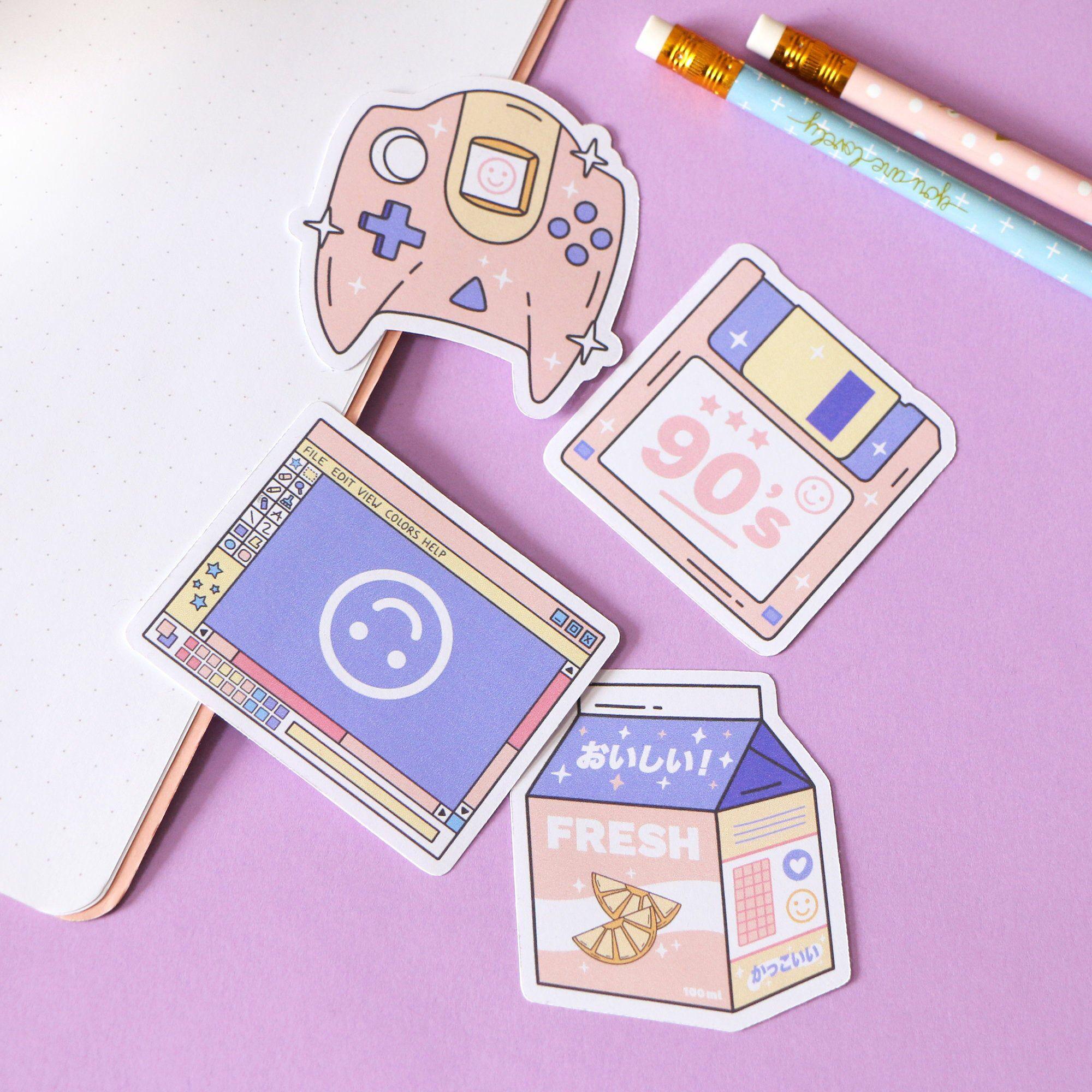 Vaporwave Inspiration Stickers Pastel Stickers Retro Stickers The