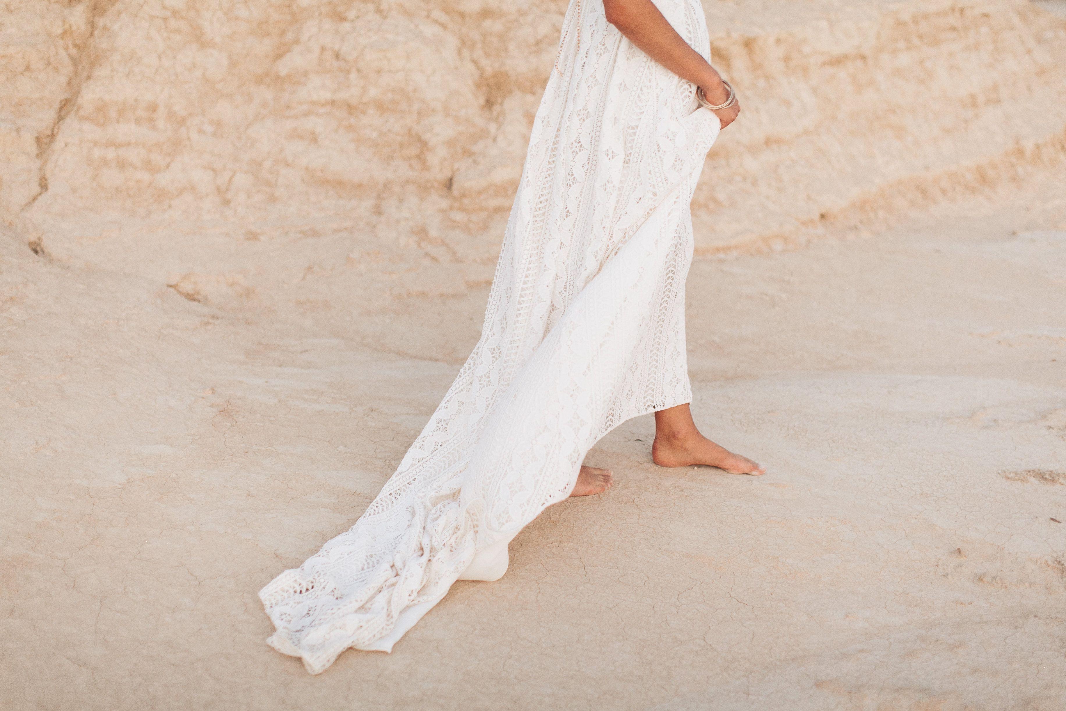 Boho Hochzeitskleid / Vintage Hochzeit Hippie / Light & Lace Bridal ...