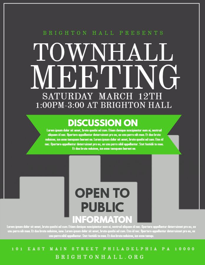Townhall meeting event flyer design Click to customize Event