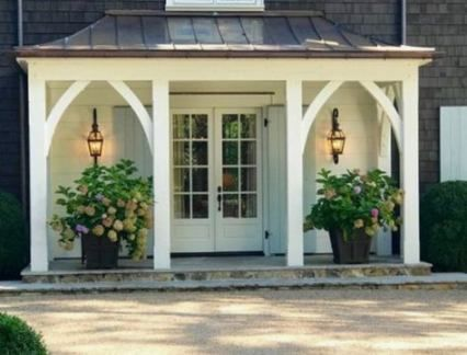 New Farmhouse Porch Posts Garage Ideas #sideporch