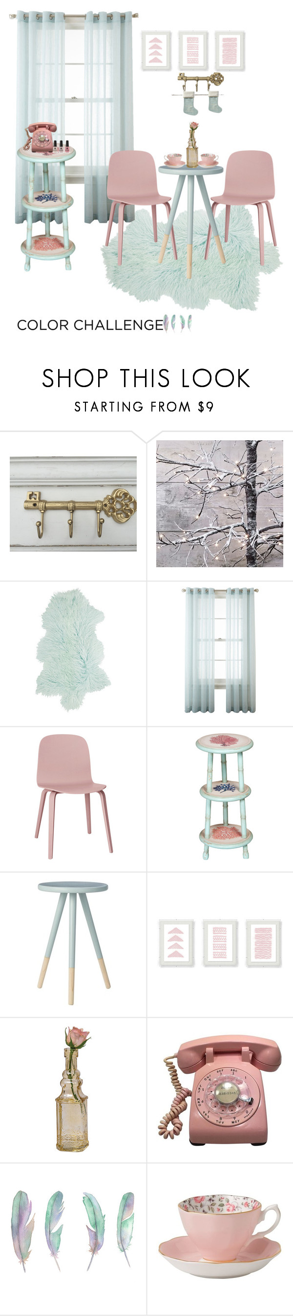 """""""all about baby color"""" by nabilathena ❤ liked on Polyvore featuring interior, interiors, interior design, home, home decor, interior decorating, Amara, Royal Velvet, Muuto and Coral Blue"""