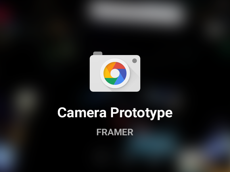 Camera prototype made with framer. Few notes:  - It only works with the browser supports getUserMedia API.  - Android Chrome / Desktop Chrome works best. It's not working with iOS. - You can take p...