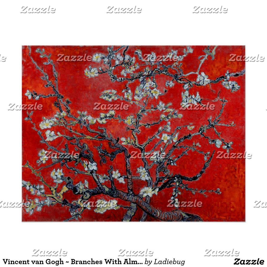 Vincent van Gogh ~ Branches With Almond Blossom | art | Pinterest ... for Almond Blossom Van Gogh Poster  lp0lpmzq