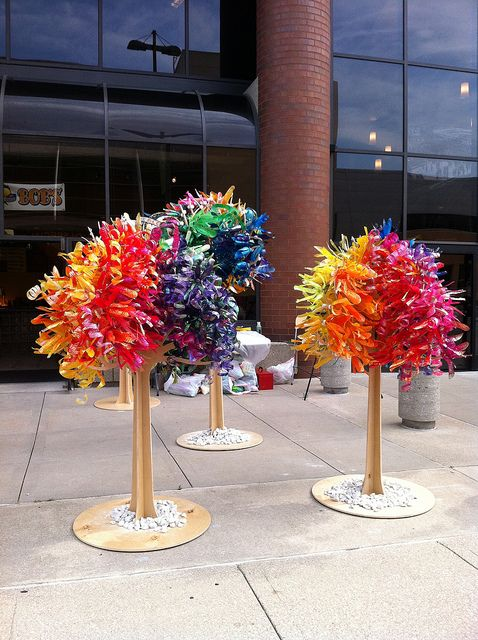 The Trees of Life Reclaimed by Dale Wayne-- using plastic bottles