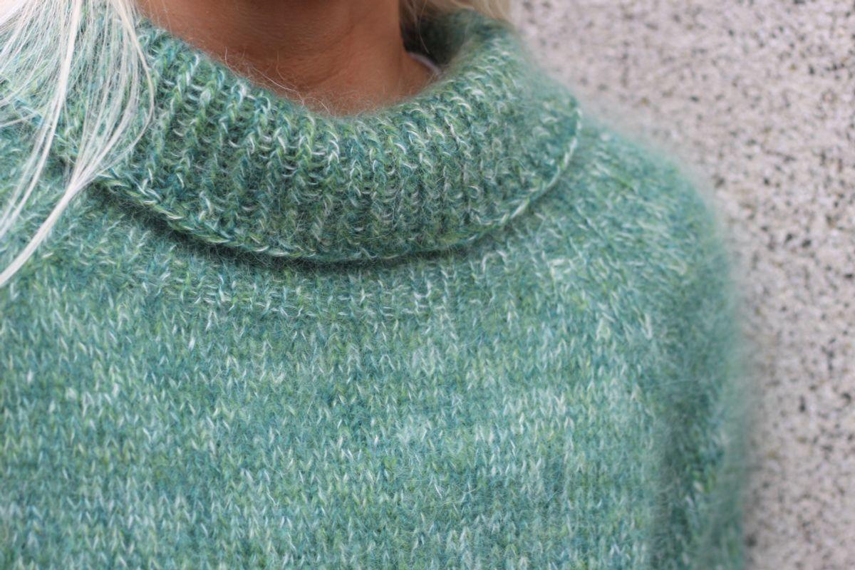 Trio genseren Strikkefeber   Strikkeoppskrift, Genser