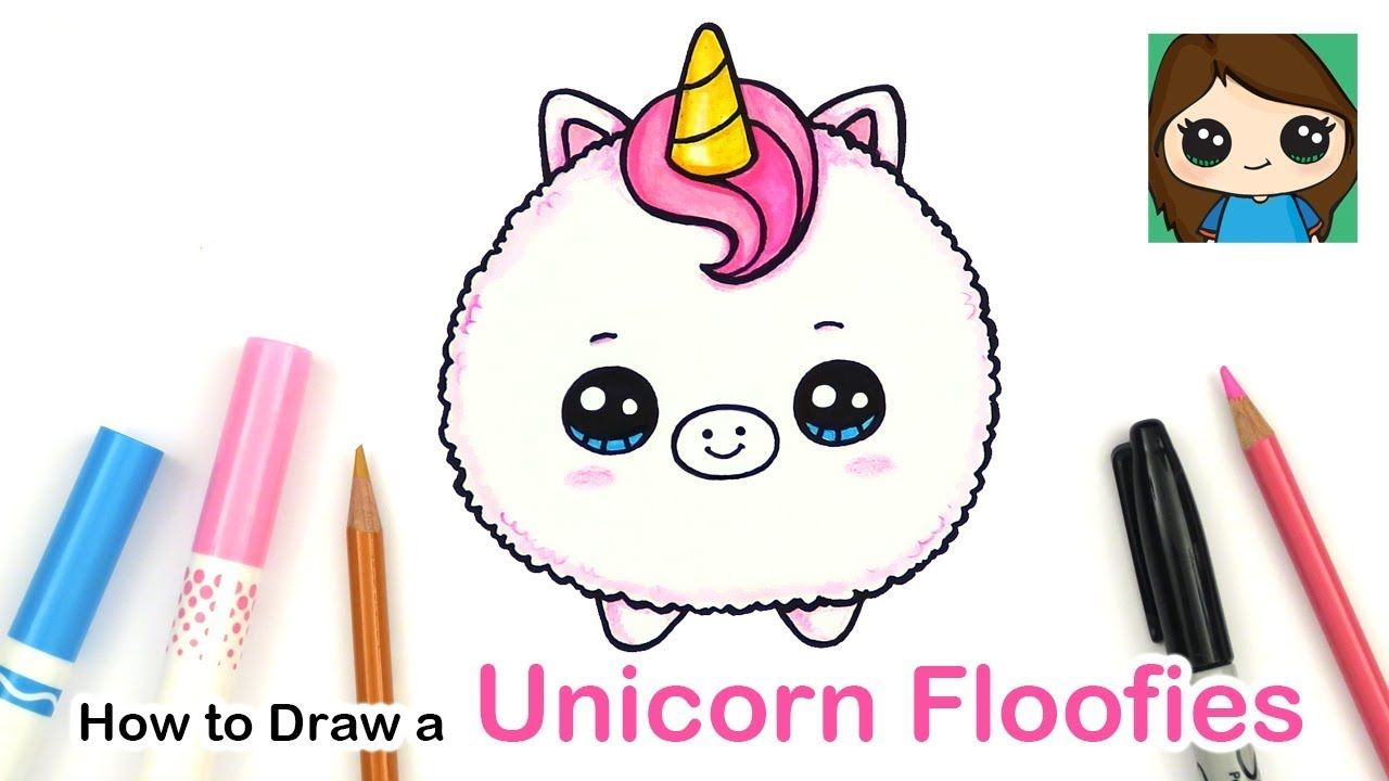 How To Draw A Baby Unicorn Easy Floofies Fluffy In 2020 Baby Unicorn Cute Easy Drawings Cute Kawaii Drawings