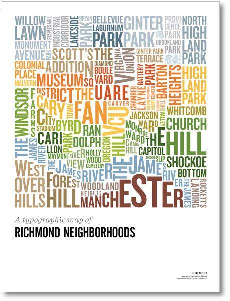 The Richmond Hood Map Poster 4200 Living Room Pinterest Poster