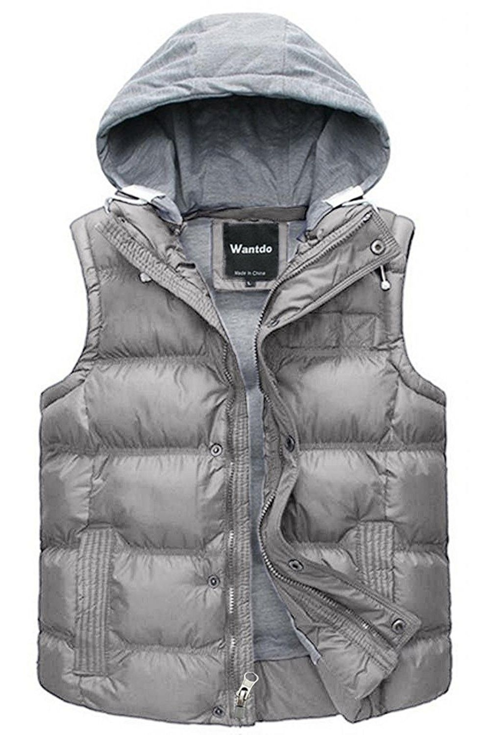 Men's Winter Puffer Vest Removable Hooded Quilted Warm Sleeveless Jacket  Gilet - Grey - CD182T4323A,Men's Clo…   Sleeveless jacket, Winter puffer  vest, Mens outfits