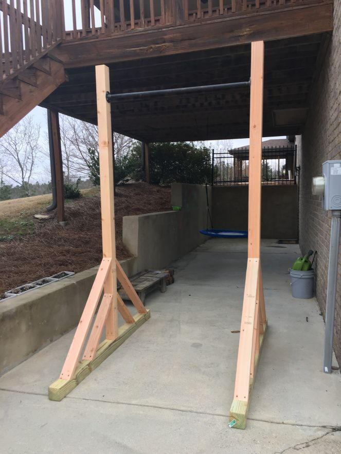 Pull-up Rig (With images) | Outdoor pull up bar, Pull ups ...