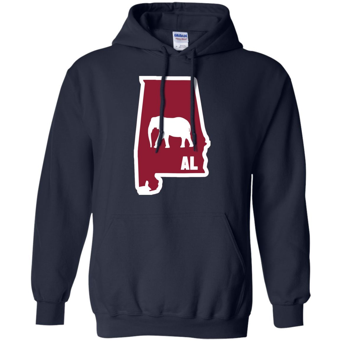 I Elephant Alabama Variant Classic University Vinyl Pullover Hoodie 8 oz