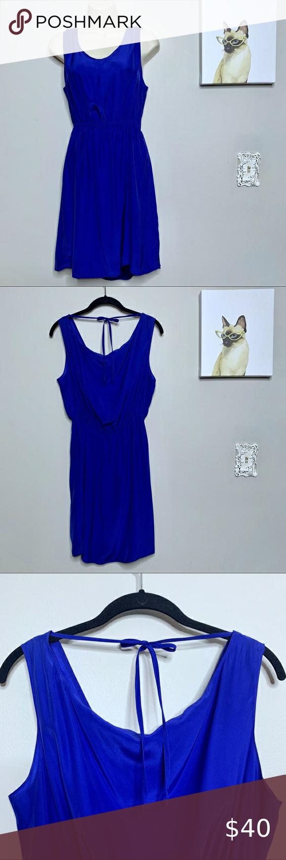 Tye it Up Scoop  Neck Sleeveless Dress with Elastic Waist