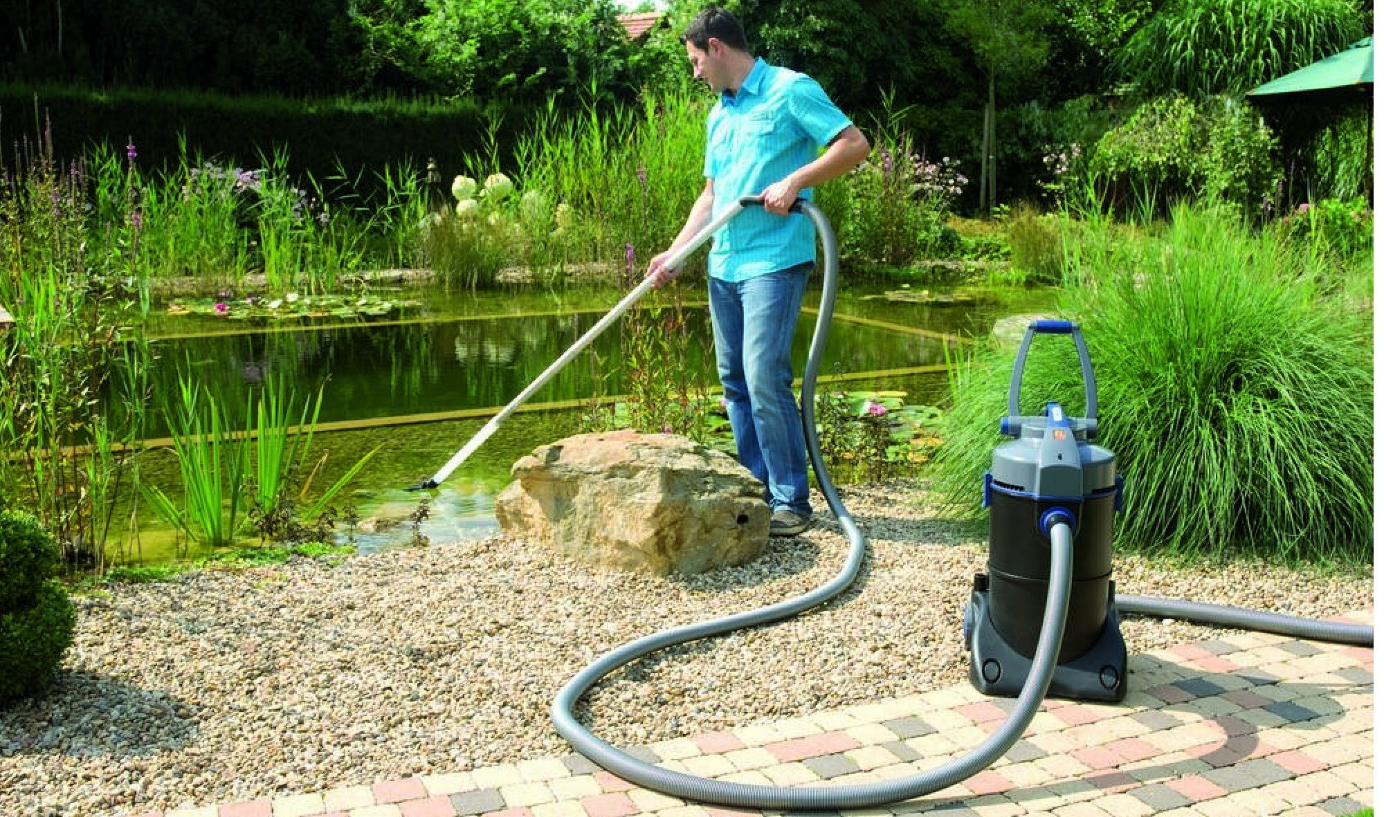 A pond vacuum is a simple and effective way of keeping your garden ...