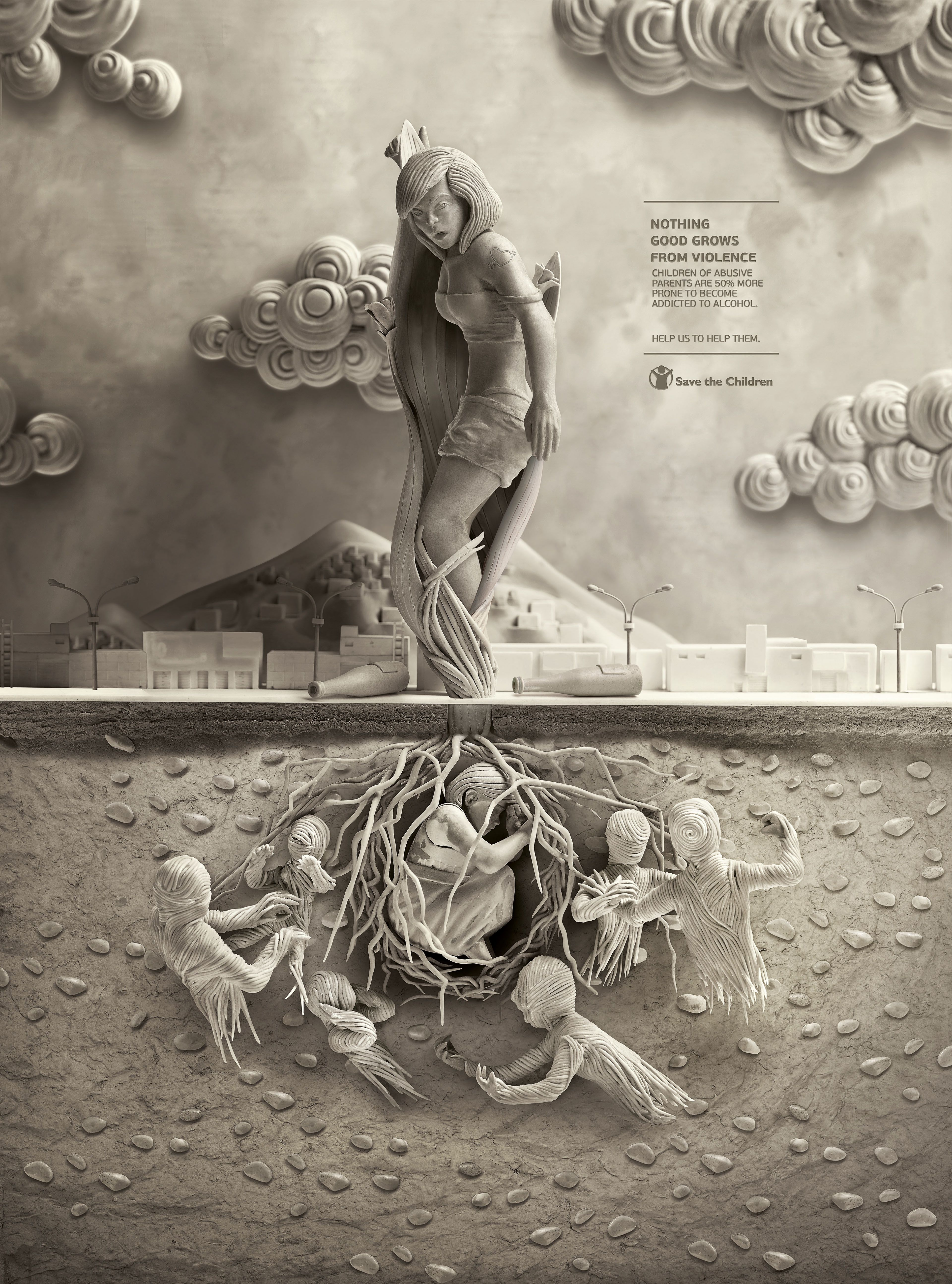 Save the Children - Human Plants on Behance Metafora Publicidad 55c8436dd74