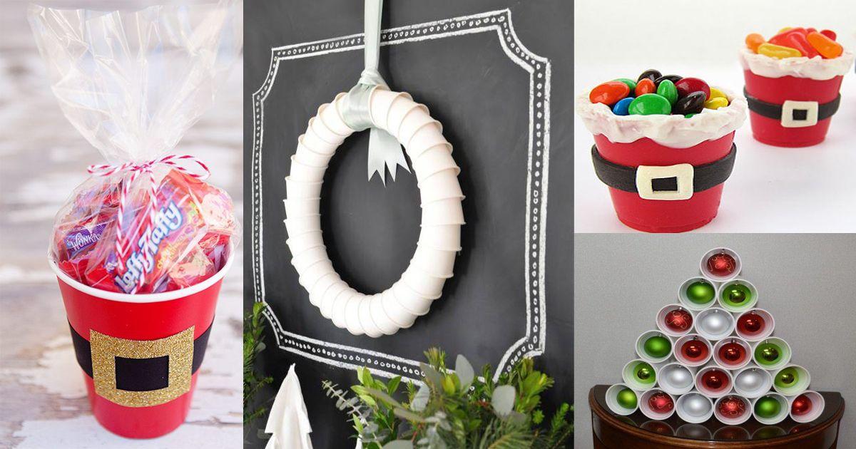 Decoraci n navide a con vasos desechables vasos desechables decoraci n navide a y bastones - Decoracion con caramelo ...