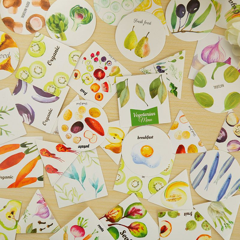 Aliexpress.com : Buy 40 pcs/lot seafood mini paper sticker decoration DIY diary scrapbooking sticker staitonery school supplies from Reliable sticker nail suppliers on Lifestyle Shop