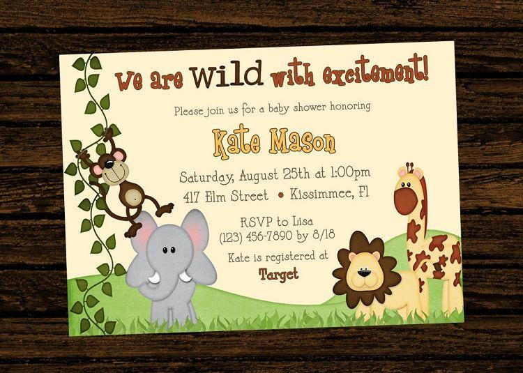 Jungle Theme Birthday Invitation Card Invitation Ideas Pinterest
